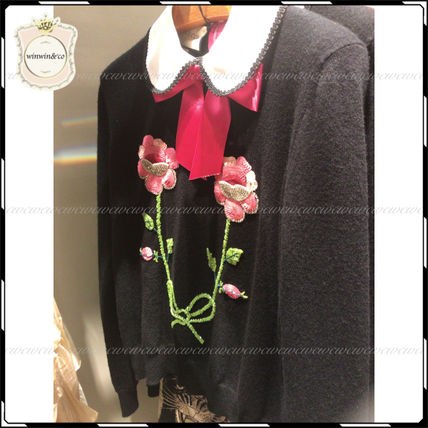 GUCCI Tシャツ・カットソー SALE【国内発送】GUCCI◆クラシカルな花刺繍カットソー(2)