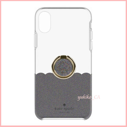 kate spade new york スマホケース・テックアクセサリー 【国内発送】Black Scallop iPhone XS Max Protective Case+Ring(2)