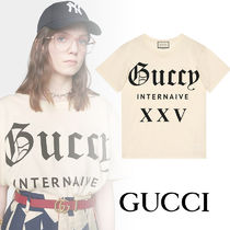 GUCCI★Guccy Internaive XXV プリントT OVERSIZE FIT コットン