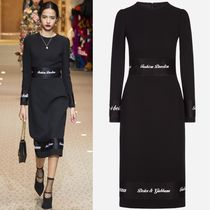 18-19AW DG1779 LOOK85 WOOL CREPE MIDI DRESS