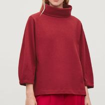 """COS"" JERSEY WOOL TOP WITH COCOON SLEEVES RED"