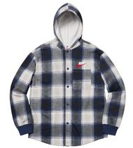 レディース 18AW Supreme Nike Plaid Hooded Sweatshirt