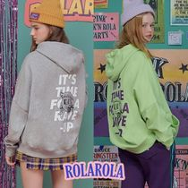 rolarola★BACK ARTWORK HOOD T-SHIRTS