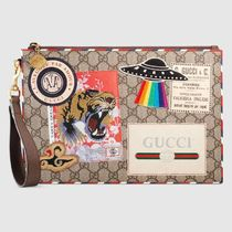 GUCCI☆Courrier GG Supremee☆ポーチ・クラッチバッグ☆虎・UFO