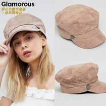 GLAMOROUS(グラマラス) ハット Glamorous Suede Look Bakerboy Hat♪