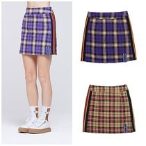 日本未入荷ROMANTIC CROWNのBand line Check Skirt 全2色