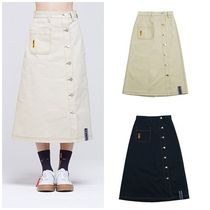 日本未入荷ROMANTIC CROWNのFront Pocket Cotton Skirt 全2色