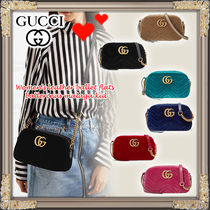GUCCI★GGMarmont ロゴ付き クロスボディバッグ★色豊富です!