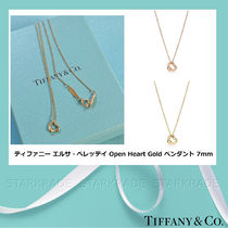 [Tiffany] Elsa Peretti Open Heart 7mm ゴールドペンダント