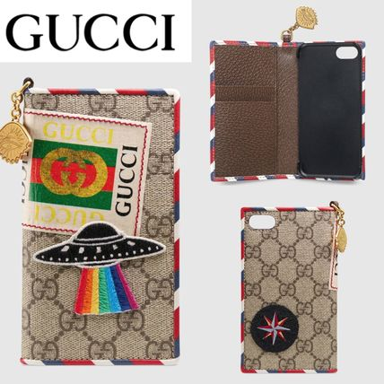 GUCCI スマホケース・テックアクセサリー 追跡有り配送!GUCCI Gucci Courrier iPhone 7 / 8 cover