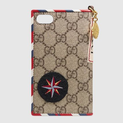 GUCCI スマホケース・テックアクセサリー 追跡有り配送!GUCCI Gucci Courrier iPhone 7 / 8 cover(4)