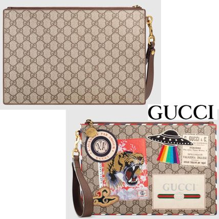 4660353b0bde9 GUCCI クラッチバッグ 追跡有り配送!GUCCI(グッチ) Gucci Courrier GG Supreme pouch ...