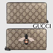 入手困難!GUCCI(グッチ) Bee GG Supreme zip around wallet