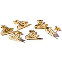 Supreme Nike 14K Gold Earring Gold FW18