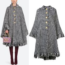 18-19AW DG1788 HOUNDSTOOTH CHECK WOOL CAPE