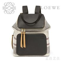 LOEWE★ロエベ Goya Stripes Small Backpack Multicolor/Black