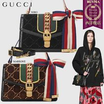 【正規品保証】GUCCI★18秋冬★GG VELVET SMALL SHOULDER BAG