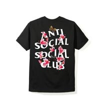 国内発送18AW Anti Social Social Club Kkoch Black Tee 黒