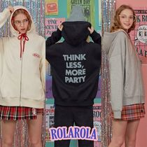 rolarola★LETTERING HOOD ZIP-UP