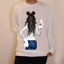 JAPANLIMITED NO COMMENT PARIS トレーナーimprime Mickey mouse