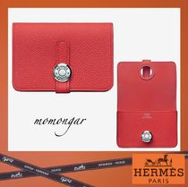 [HERMES] Dogon Card Holder☆rouge pivoting