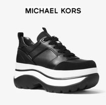 ★SALE★【Michael Kors】Felicia Leather Platform Trainer
