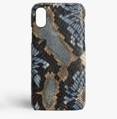 THE CASE FACTORY スマホケース・テックアクセサリー 関税送料込☆THE CASEFACTORY☆ IPHONE XR FLORAL PYTHON BLUE(2)