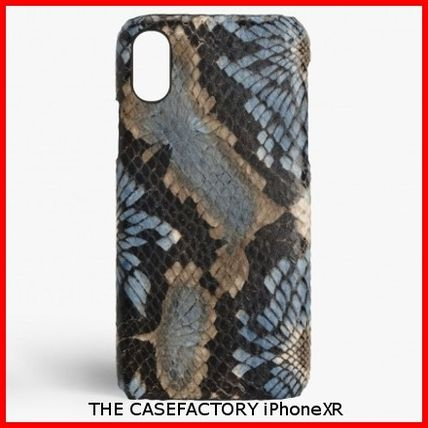 THE CASE FACTORY スマホケース・テックアクセサリー 関税送料込☆THE CASEFACTORY☆ IPHONE XR FLORAL PYTHON BLUE
