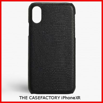 THE CASE FACTORY スマホケース・テックアクセサリー 関税送料込☆THE CASEFACTORY☆IPHONE XR LIZARD BLACK