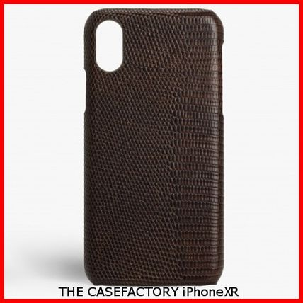 THE CASE FACTORY スマホケース・テックアクセサリー 関税送料込☆THE CASEFACTORY☆IPHONE XR LIZARD BROWN