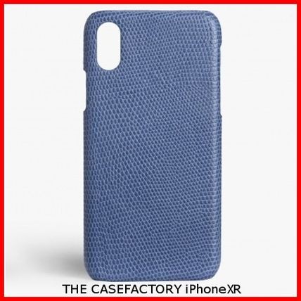 THE CASE FACTORY スマホケース・テックアクセサリー 関税送料込☆THE CASEFACTORY☆IPHONE XR LIZARD DENIM