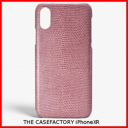 THE CASE FACTORY スマホケース・テックアクセサリー 関税送料込☆THE CASEFACTORY☆IPHONE XR LIZARD ROSA ANTICO