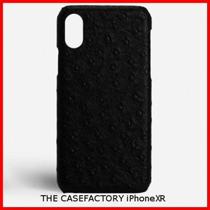 THE CASE FACTORY スマホケース・テックアクセサリー 関税送料込☆THE CASEFACTORY☆IPHONE XR OSTRICH BLACK