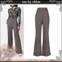 19AW☆送料込【see by chloe】 千鳥格子 ワイドレッグパンツ