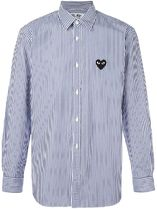 COMME des GARCONS PLAY ハートロゴ ストライプシャツ (MENS)