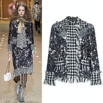 18-19AW DG1797 LOOK52 SEQUINED HOUNDSTOOTH CHECK JACKET