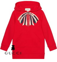 New☆GUCCI★リボン&ロゴフードワンピース 4~10歳【関税込】