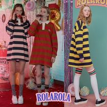 rolarola★STRIPE COLLAR ONE-PIECE