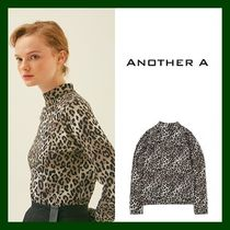 ANOTHER A(アナザーエー) ブラウス・シャツ 日本未入荷!【ANOTHER A】Leopard T-shirt (BLACK)
