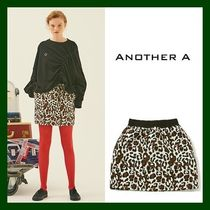 ANOTHER A(アナザーエー) ミニスカート 日本未入荷!【ANOTHER A】Leopard Mini Skirt (BROWN)