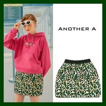 ANOTHER A(アナザーエー) ミニスカート 日本未入荷!【ANOTHER A】Leopard Mini Skirt (GREEN)