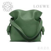 LOEWE★ロエベ Flamenco Knot Small Bag Forest Green