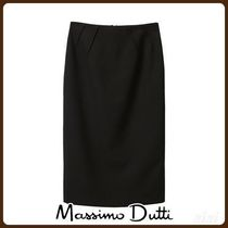 MassimoDutti♪TEXTURED WEAVE SKIRT WITH DARTS DETAIL