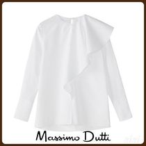 MassimoDutti♪LIMITED EDITION COTTON RUFFLE SHIRT