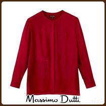 MassimoDutti♪BLOUSE WITH FRONT DETAILS