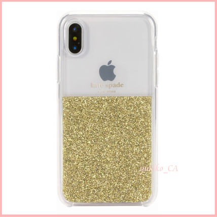 kate spade new york スマホケース・テックアクセサリー 【国内発送】Clear/Gold iPhone XS Protective Case セール(2)