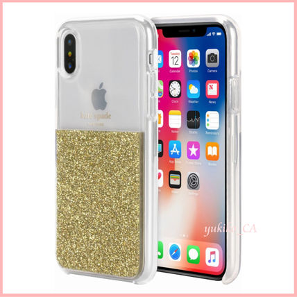 kate spade new york スマホケース・テックアクセサリー 【国内発送】Clear/Gold iPhone XS Protective Case セール(3)