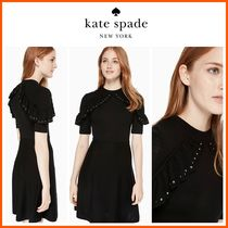 18-19AW!日本未入荷☆kate spade☆ruffle studded sweater dress