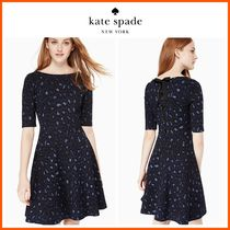 日本未入荷☆kate spade☆leopard-print lace-up ponte dress