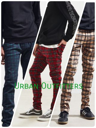 Urban Outfitters★タータンスキニーパンツ ★3色